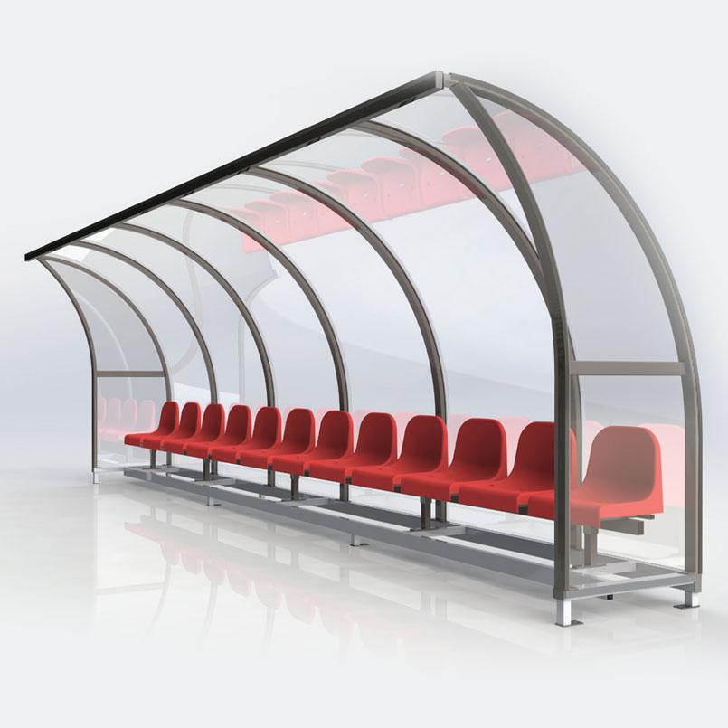 Striedačky pre hráčov ALFA-liaty polykarbonát