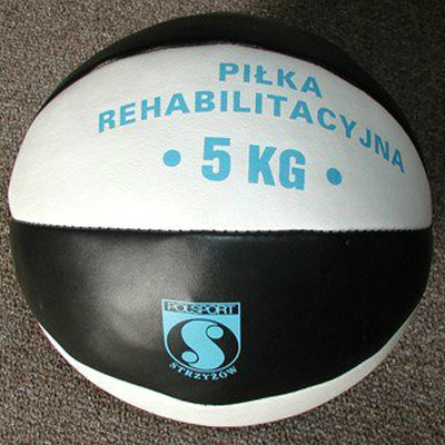 Medicine ball 4 kg, natural leather