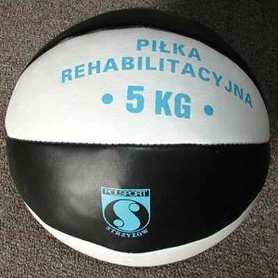 Medicine ball 5 kg, natural leather