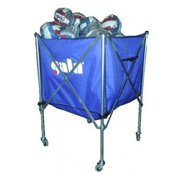 Folding, material trolley for balls