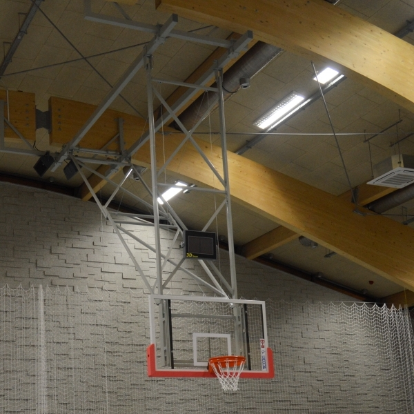 CEILING MOUNTED BASKETBALL STRUCTURE