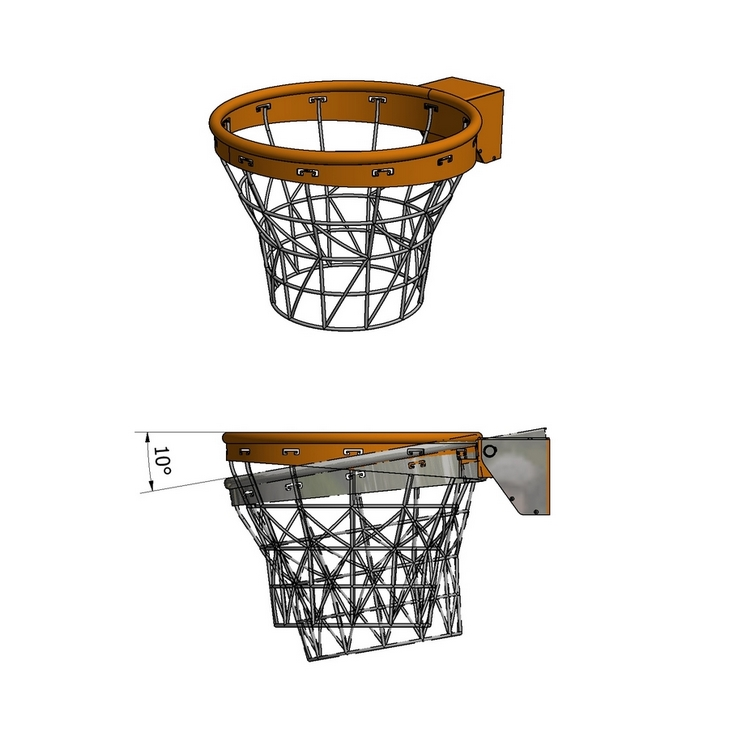 FLEXIBLE BASKETBALL RING