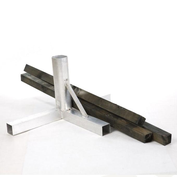 Tuleja montażowa słupka aluminiowego