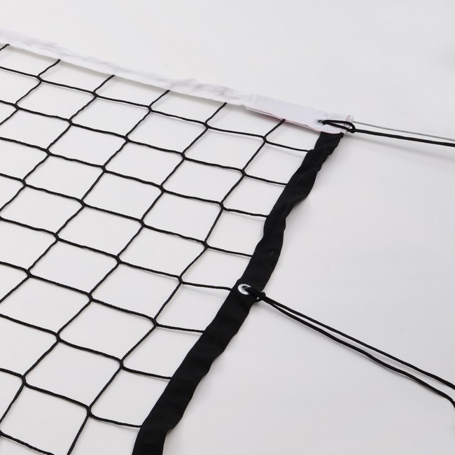 TOURNAMENT VOLLEYBALL NET WITH ANTENNAS, BLACK, THICKNESS 3MM