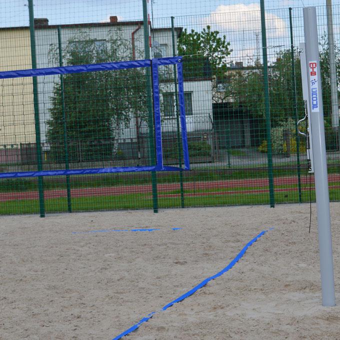 Volejbalová plážová turnajová sieť so štyrmi stranami