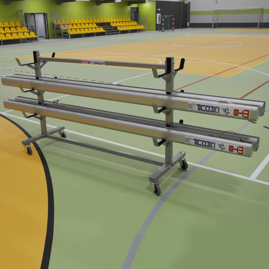 PORTABLE TROLLEY FOR VOLLEYBALL POSTS