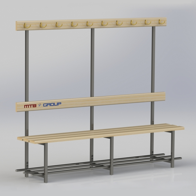 SINGLE-SIDED CHANGING ROOM BENCH