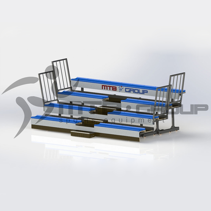 TELESCOPIC BLEACHER 5-ROWS WITH PLASTIC SEATS