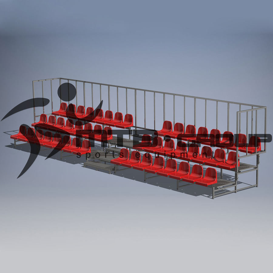 STABLE BLEACHER 5-ROWS WITH WEMA PLATFORMS