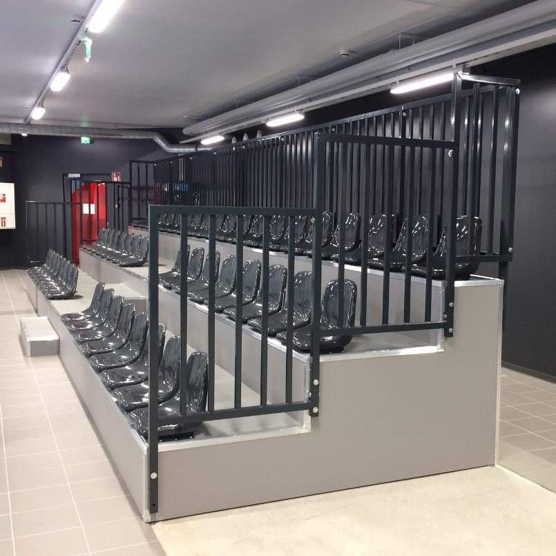 MGZ stable tribune with plastic seats