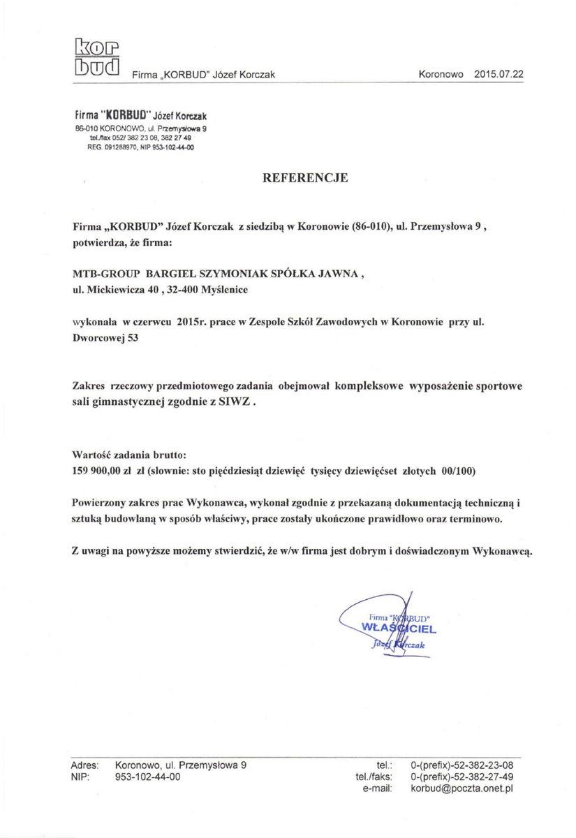 Referencje Koronowo