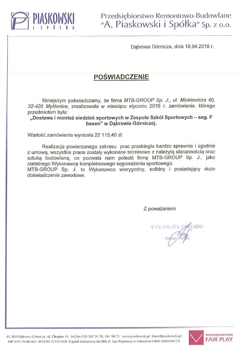 Referencje Dąbrowa Górnicza