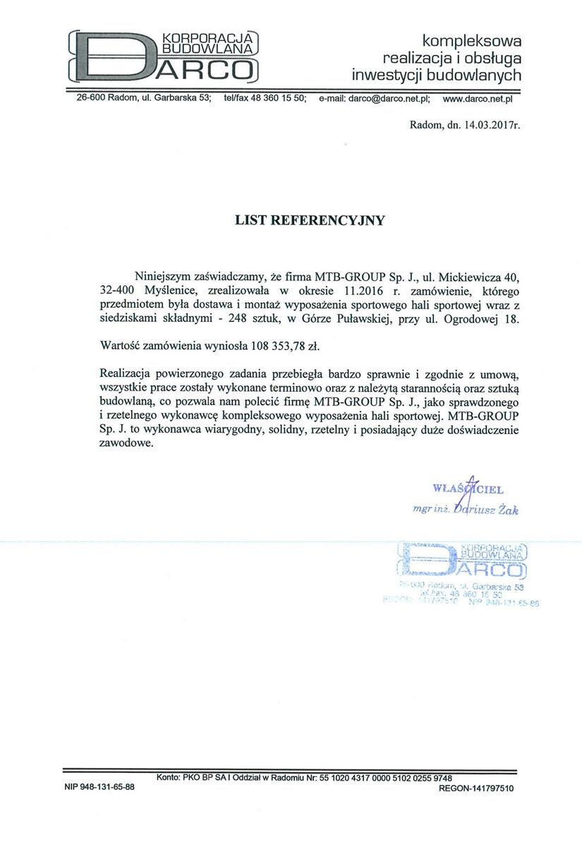 Referencje Bulkowo